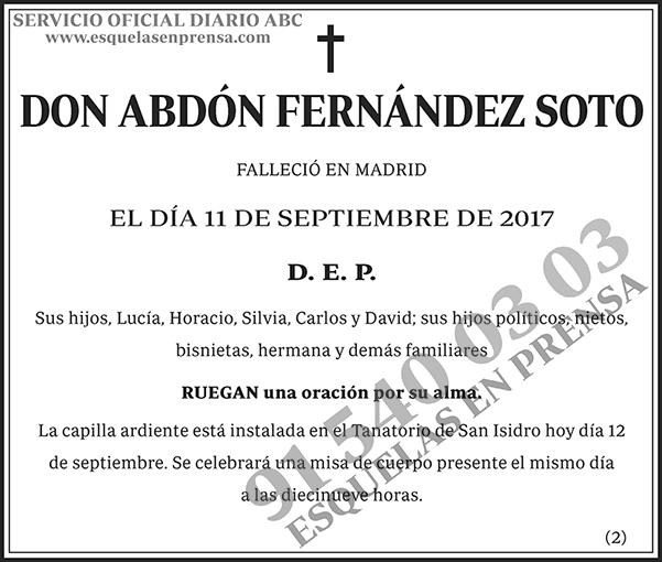 Abdón Fernández Soto